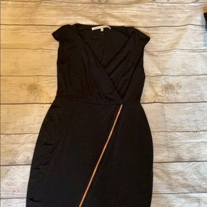 Little black dress rose gold zipper